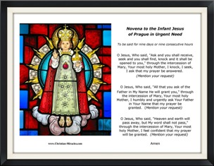 Prayers to the Infant Jesus of Prague - Signs, Wonders, and Miracles